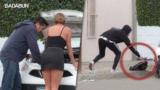 Kim y Malcriado robando Pizza a desconocidos