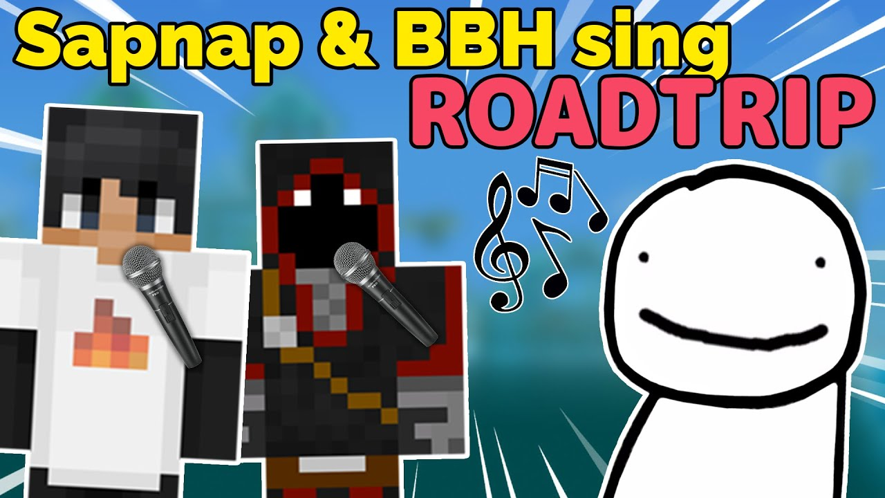 Sapnap and BadBoyHalo sing Dream's Song Roadtrip on Karl's Stream
