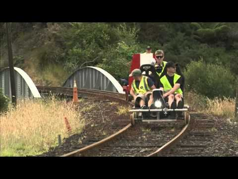 Trolley riding on the Waihi Goldfields Railway