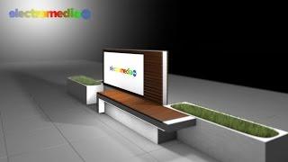 Реклама медиа-скамейки Electromedia
