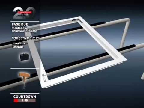 Видеоинструкция по сборке поворотно-откидного окна из алюминиевого профиля.