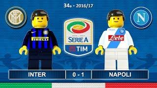 Inter Napoli 0-1 • Serie A 2017 (30/04/2017) goal highlights sintesi Lego Calcio