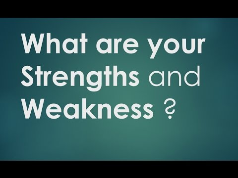 What are your Strengths and Weaknesses - answer clearly and