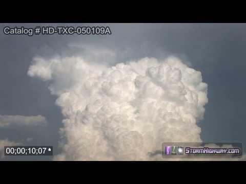 Thunderstorm cumulonimbus timelapse - Seymour, TX, May 1, 2009