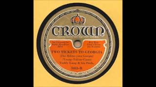 Teddy Lang & His Orchestra - Two Tickets To Georgia - Crown 3463