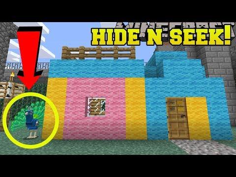 Minecraft: PEACOCKS HIDE AND SEEK!! - Morph Hide And Seek - Modded Mini-Game