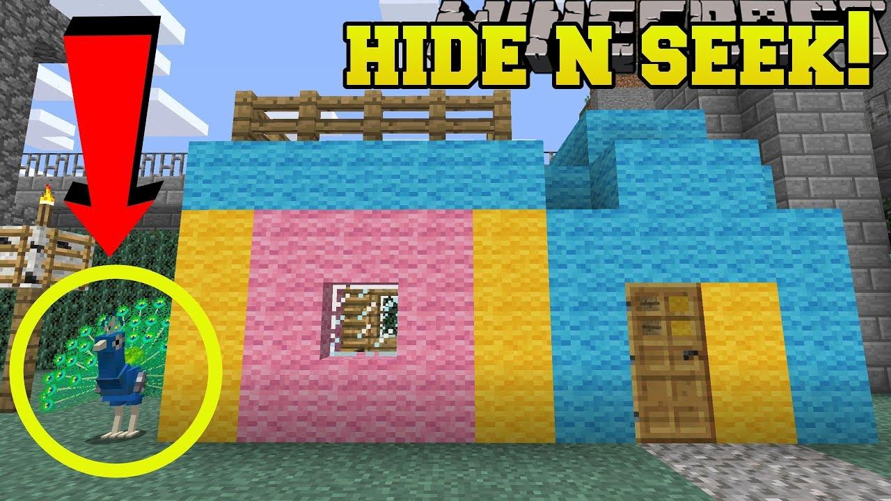 Download Minecraft: PEACOCKS HIDE AND SEEK!! - Morph Hide And Seek - Modded Mini-Game