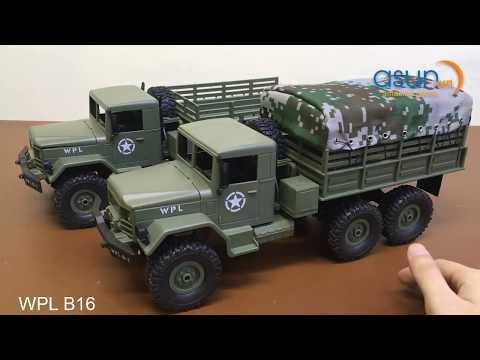 Hot Giới Thiệu Xe Tải Quân Sự Điều Khiển 6 Bánh WPL B16 6WD - Asun.vn