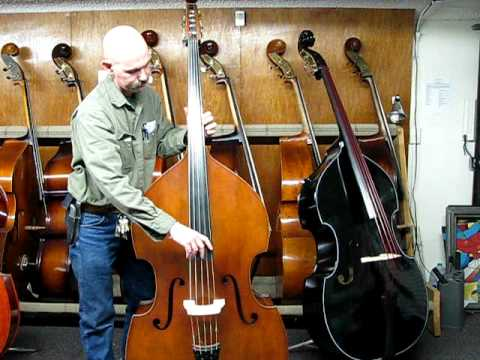 5 string acoustic upright bass violin plucked by amateur check out this bass though youtube. Black Bedroom Furniture Sets. Home Design Ideas