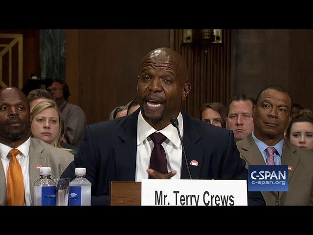 Resultado de imagem para Terry Crews em depoimento no Senado
