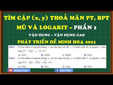 Tìm số nguyên dương x và y để thoả mãn phương trình|BPT mũ và logarit (Phần 1)|Thầy Nguyễn Văn Huỳnh