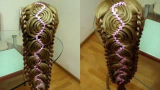 Техника трёх кос. Голливудская волна. Видео-урок
