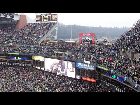 Seattle Seahawks vs San Francisco 49ers 1/19/2014 12th Man Flag Raising Paul Allen