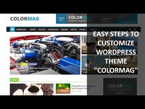 """easy steps to customize the wp theme """"colormag"""""""