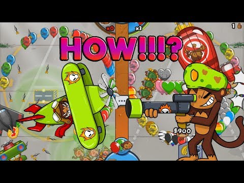 HOW DID WE WIN THAT?! CRAZY GAME - Bloons TD Battles