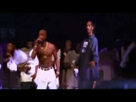 2Pac, Dr. Dre and Snoop Dogg in live performance
