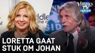 Loretta Schrijver ligt dubbel om Johan Derksen: 'Wat moet-ie nog veel leren!'