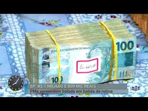 Durante blitz, polícia encontra R$ 1,8 milhão escondido em carro | Primeiro Impacto (02/03/18)