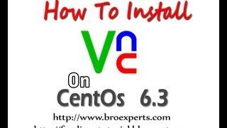 VNC Installation on centos 6.3