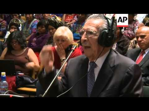 Former dictator Efrain Rios Montt testifies for the first time at his genocide trial