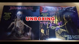 Megadeth Unboxing The World Needs A Hero/ The System Has Failed (2019 Remasters)