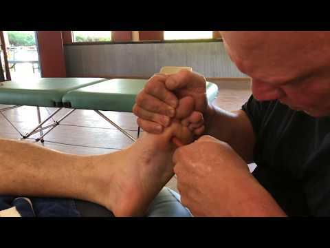 Deep Toe Massage. Brandon Working On Ed Part 2. Strong Adjustments On Toe Joints. Raynor Massage