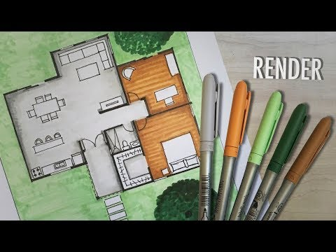 How to render a floor plan by hand | MARKERS