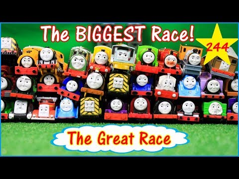 THE BIGGEST RACE! THOMAS AND FRIENDS GREAT RACE #244 TrackMaster Shooting Star Gordon Toys Kids