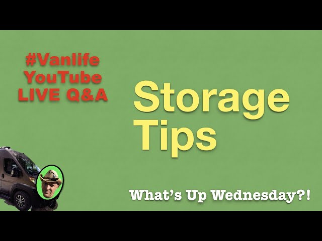 STORAGE TIP for RVers, LIVE Q&A with Full-time #vanlife in Class B RV Promaster Travato