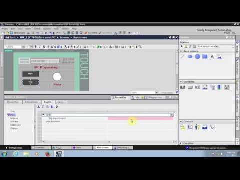 Siemens KTP600 HMI Programming