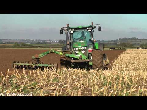 John Deere 7930 Ploughing With Front Furrow Press 2013