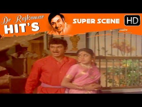 Dr.Rajkumar Movies - dr.rajkumar comes to vajramuni's house to warn him | Sampathige Saval Movie