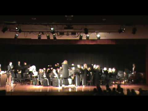 Laker High School band performing patriotic music