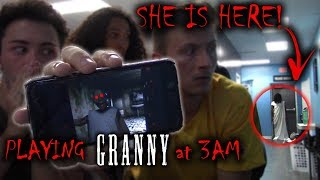 (GRANNY IS HERE) PLAYING GRANNY AT 3 AM AND SHE CAME TO US! thumbnail