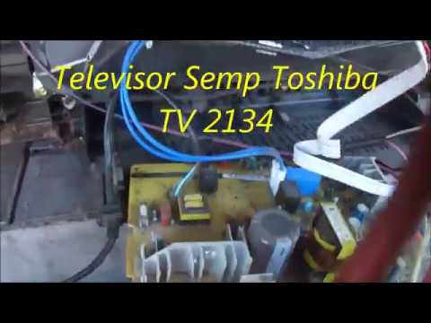 Defeito e conserto TV Semp Toshiba TV 2134