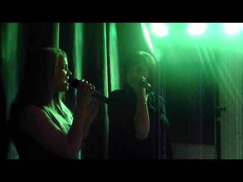fran and bethan singing in the park hotel karaoke ebbw vale
