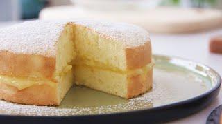 Super Fluffy Orange Sponge Cake 一次成功香橙抹酱海绵蛋糕 ll Apron