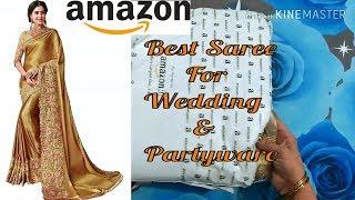 Wedding/Reception/Party Saree Shopping Online Amazon Designer Saree Review,শাড়ি