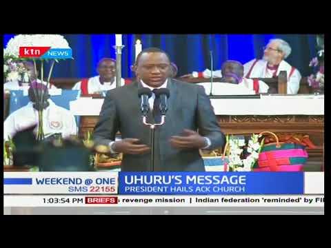 President Uhuru's message to Kenyans as All Saints Cathedral celebrates 100 years