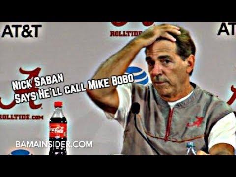 Nick Saban says he'll just call up Mike Bobo and give him the game plan