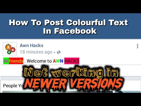 How to post colour text in facebook  Write colourful text