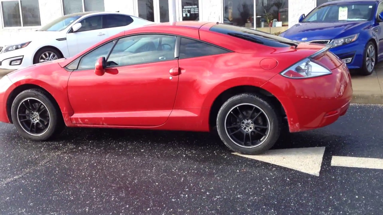 2007 red mitsubishi eclipse gs auto black wheels tinted low miles 57k