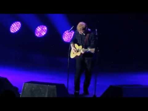 Ed Sheeran Give Me Love Live Manchester Youtube