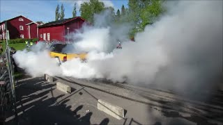 American Car Meeting BURNOUTS 2015 in Juthbacka, Finland 13.6.2015 HD