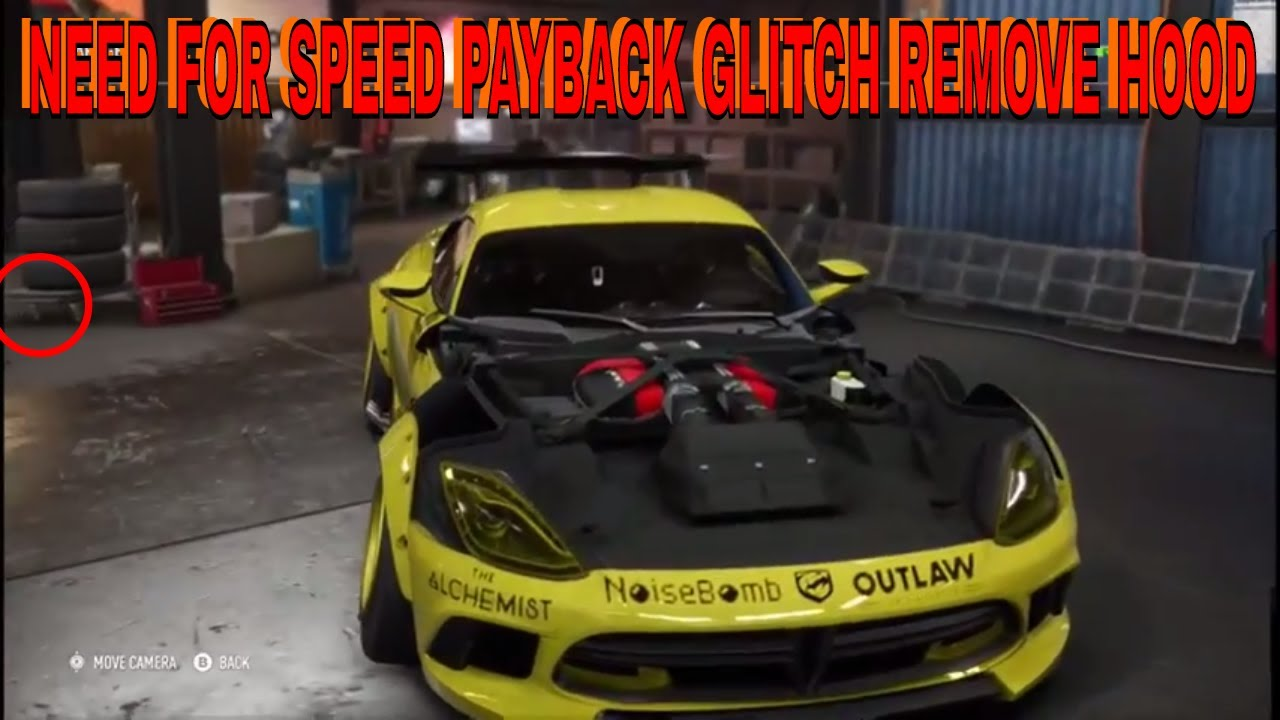 NEED FOR SPEED PAYBACK GLITCH REMOVE HOOD