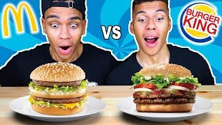 MCDONALDS VS BURGER KING CHALLENGE !!! | Kelvin und Marvin