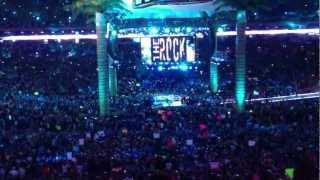 The Rock entrance at Wrestlemania 28