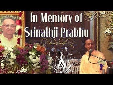 Offering to Srinathji Prabhu by Radhanath Swami at ISKCON Chowpatty