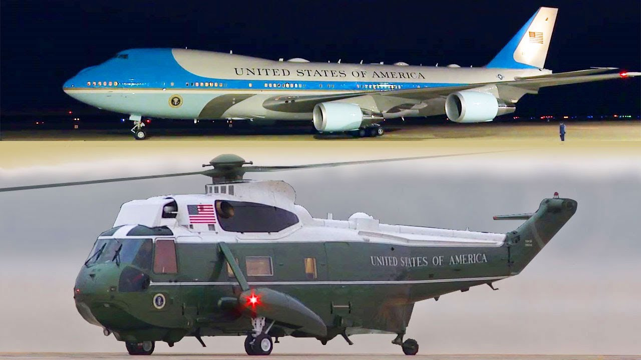 Download President Trump, Air Force One Landing and Boarding the Marine One Helicopter