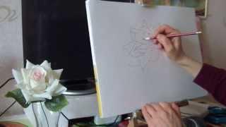 КАК НАРИСОВАТЬ РОЗУ КАРАНДАШОМ ПОЭТАПНО (для начинающих)(В этом видео я предлагаю начинающим попробовать вместе со мной нарисовать розу простым карандашом в линиях..., 2015-11-03T12:43:07.000Z)